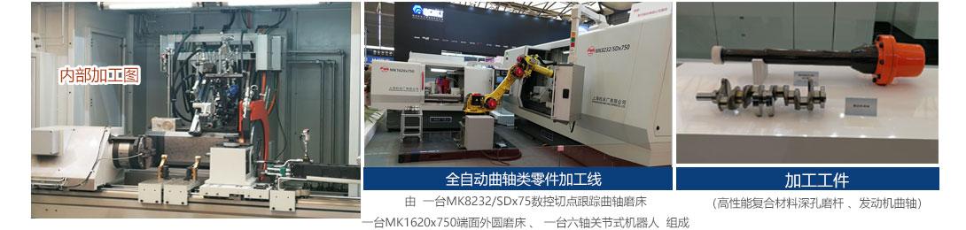 2018展会现场上海机床厂全自动曲轴类零件加工线