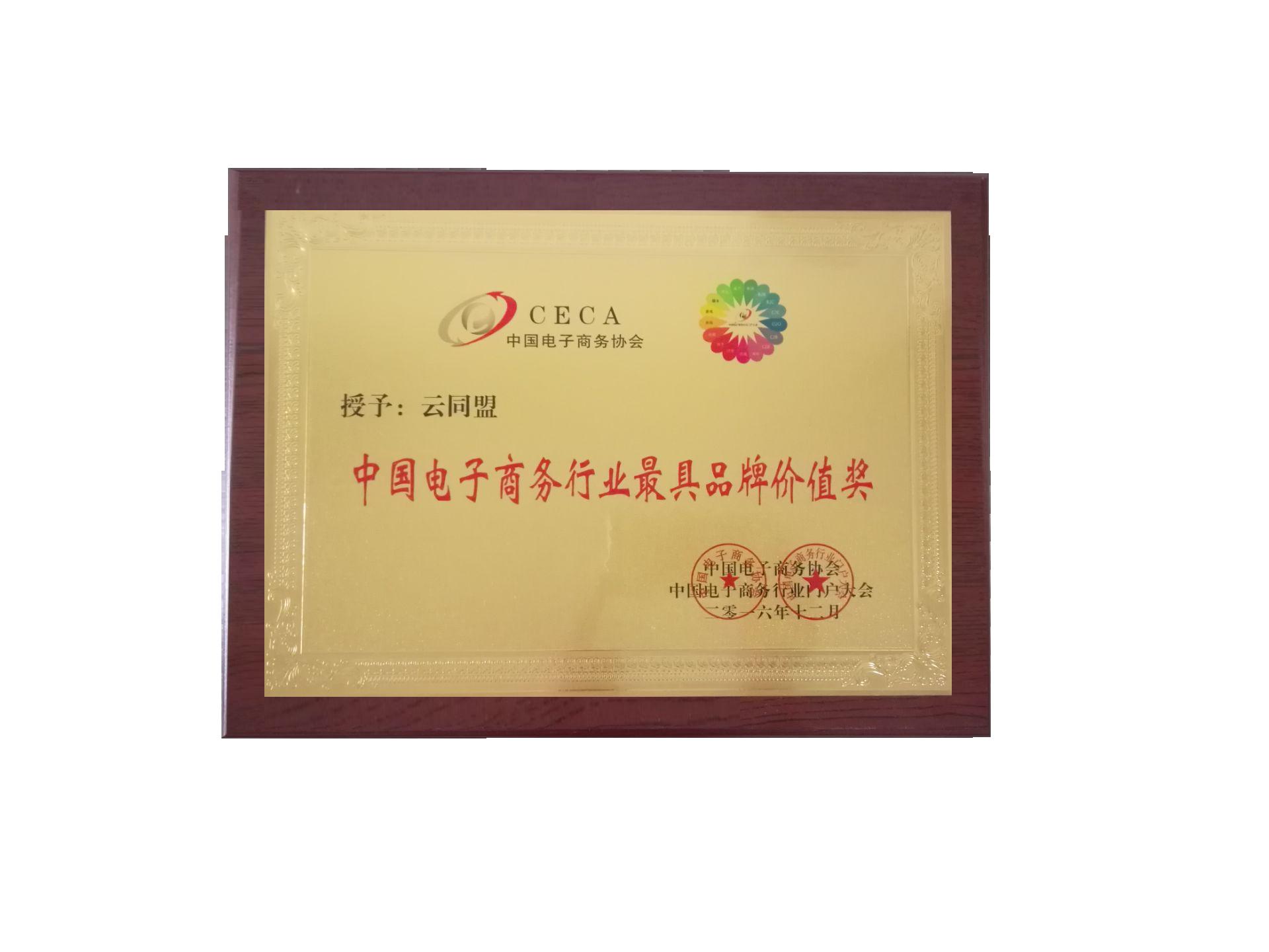 中国电子商务行业最具品牌价值奖